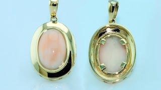 Handmade pendent with gold bezel setting for delicate gems