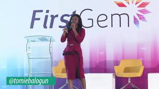 Tomie Balogun speaking at the Annual First Gem Event organised by FBN