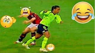Ronaldinho Gaucho - Dribles  e Gols Barcelona e +   Lances Lendarios