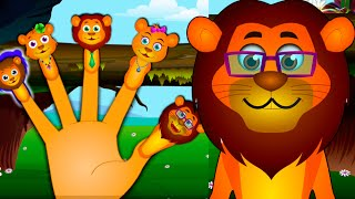 Lion Finger Family And Many More | Videogyan Finger Family Rhymes
