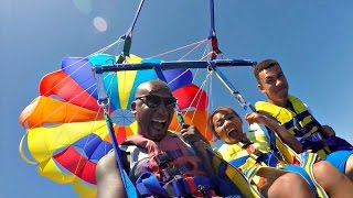 Family Extreme Parasailing Challenge!! Toys AndMe