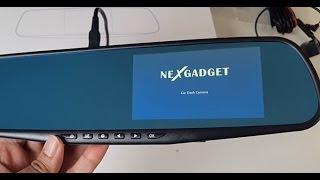 2017 Dual Lens Full HD Car Dash Cam - Windscreen Mirror Cam by NEXGADGET