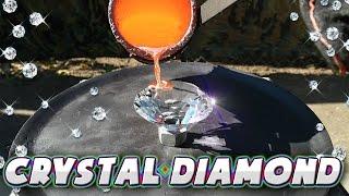 Molten Copper vs A Crystal Diamond