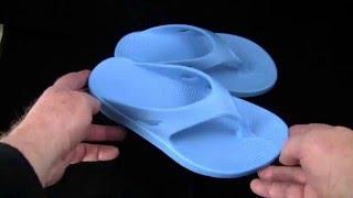 OOFOS OOriginal Bermuda Blue Thong Sandals