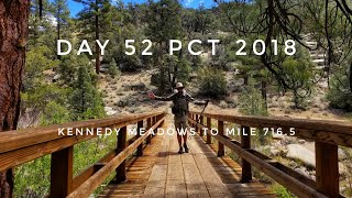 Day 52 PCT 2018 thruhike Kennedy Meadows to mile 716.5