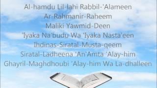 Learn Surah Al-Fatiha in English [HD]
