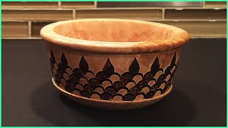 Decorating a Maple Bowl with Wood Burning