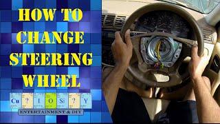 how to change car steering wheel
