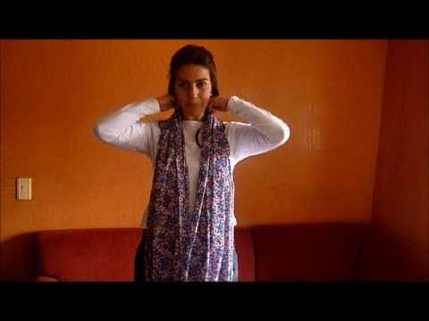 Cómo usar pashminas chalinas chales etc. por Florinda