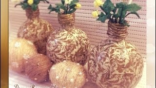 DIY - How to Make Recycle Vase from Used Plastic Bottle
