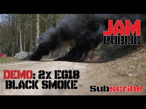 DEMO: 2x EG18 Enola Gaye Black Smoke Grenade