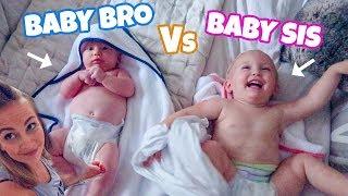 BABY BRO VS BABY SIS!!