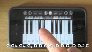 TUTORIAL Titanium - David Guetta ft Sia iPhone Piano / iPod Touch Piano