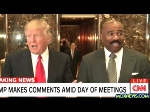 watch After Meeting With Donald Trump Steve Harvey Steps Up To The Mic At Trump Tower