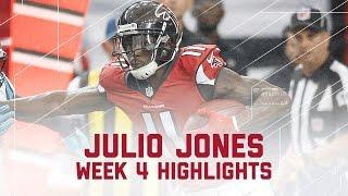 Julio Jones' 300-Yard Game! | Panthers vs. Falcons | NFL Week 4 Player Highlights