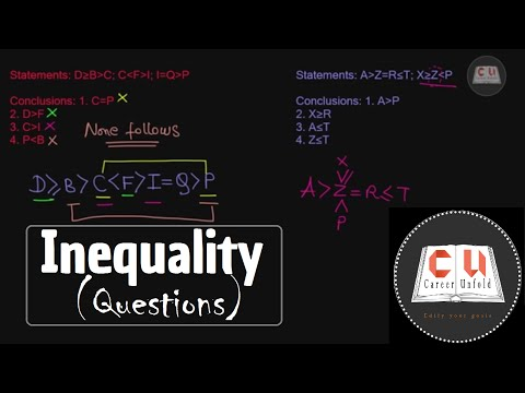 Inequalities (Questions) - IBPS PO, SBI PO, bank exams, other govt exams - Reasoning aptitude