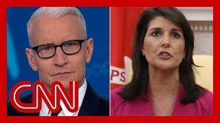 Nikki Haley said Trump is truthful. Cooper rolls the tape