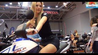 Honda Transalp - Hot Italian Blonde Girl Moto Testimonial