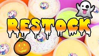 Slime Shop Restock!!! September 15, 2017 - @UniicornSlimeShop NEW FALL / HALLOWEEN SLIME!!!