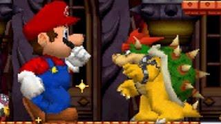 New Super Mario Bros DS - All Bosses with Mega Mushrooms