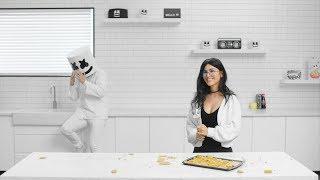 SSSniperWolf & Marshmello Make Fortnite Sunbeam Crystal Pop Rocks | Cooking With Marshmello