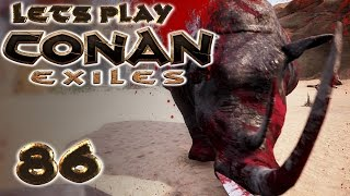 CONAN EXILES Deutsch #86 BOSS RHINO ATTACKE [ German Gameplay Deutsch ]