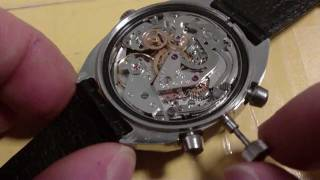 How to remove a wrist watch stem and crown, push type, Poljot 3133