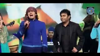 """Sonu Nigam Singing """"Jai Ho"""" First Time With A. R. Rahman must watch everyone"""