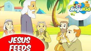 Best Bible stories for kids | Jesus Feeds  | Animation | Preschool | Kids | Kindergarten
