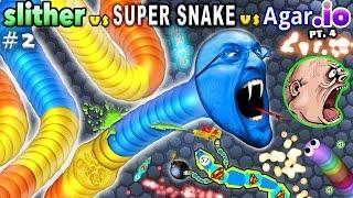 SLITHER.io #2: vs. AGAR.io #4 vs. SUPER SNAKE.io #1 (FGTEEV Duddy Plays & Ranks All 3!!  Favorite??)