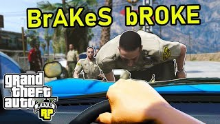 Car Runs Through Police on Scene! (GTA RP)