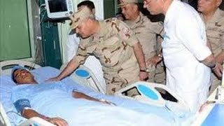 الفريق أول صدقى صبحى يتفقد مصابى الحادث الإرهابى بمستشفى المعادى
