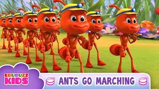 Ants Go Marching One by One Song | Nursery Rhymes