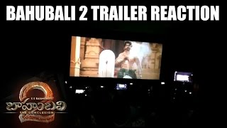 Bahubali 2 The Conclusion Trailer Reaction at Theatres || Bahubali 2 Trailer Hungana at Theatres