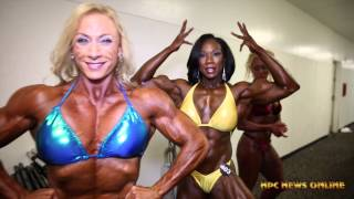 2015 IFBB North American Championships Women's Bodybuilding Backstage Video
