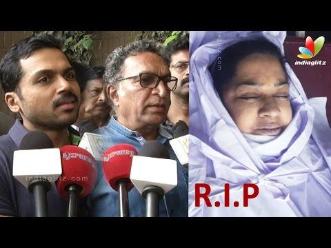 Karthi, Kovai Sarala, Nassers's condolence speech to Kalpana's Death | Malayalam Actress