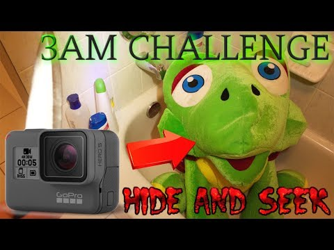 (GONE WRONG) 3AM CHALLENGE / ONE MAN HIDE AND SEEK (GOPRO ON DOLL)