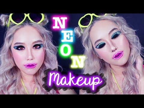 Bold Neon Eyeliner Makeup Tutorial