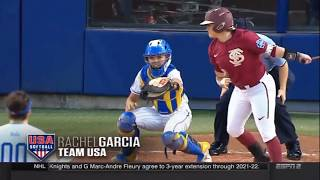 United States Red vs Puerto Rico 2018 Softball International Cup