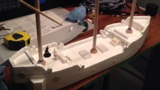 Polystyrene Foam Ship Build