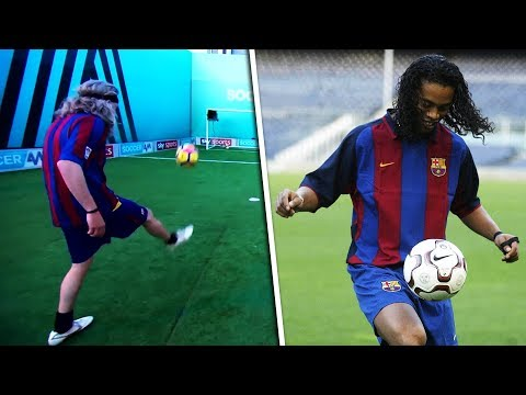 Jimmy Bullard Recreates | Ronaldinho's viral double crossbar tekkers!