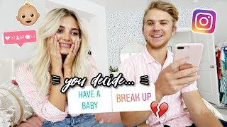 Instagram Controls Our Relationship For a Day!   Aspyn Ovard