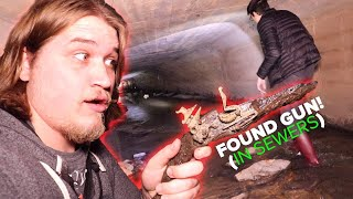 Found a GUN Exploring the SEWERS Underground! (Brought to Museum)