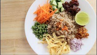 Shrimp Paste Fried Rice Recipe ข้าวคลุกกะปิ - Hot Thai Kitchen