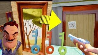 ALL KEYS FOUND & SECRET PAINTING DOOR! | Hello Neighbor Alpha 4 Secrets