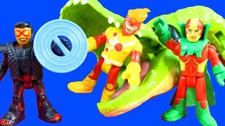 Imaginext DC Super Friends Series 3 Blind Bags Vibe Mister Miracle Batman Justice League Tryouts