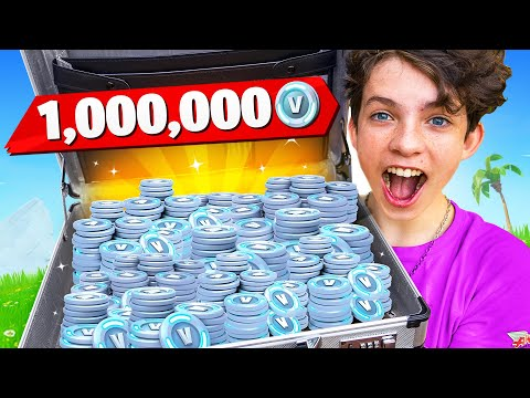 I Surprised My Little Brother with One MILLION VBucks