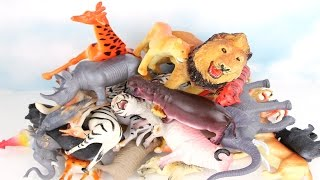 50 Animals Stacking - Wild&Farm&Zoo Animals. Learn names of Animal For Kid. Preshcool Toys.
