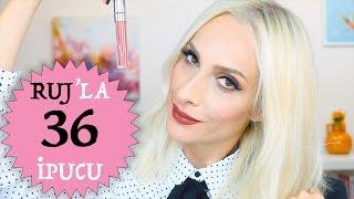Bilmeniz Gereken 36 RUJ İpucu   36 Lipstick Hacks You Need To Know   Sebile Ölmez
