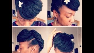 African Threaded Hairstyle //2